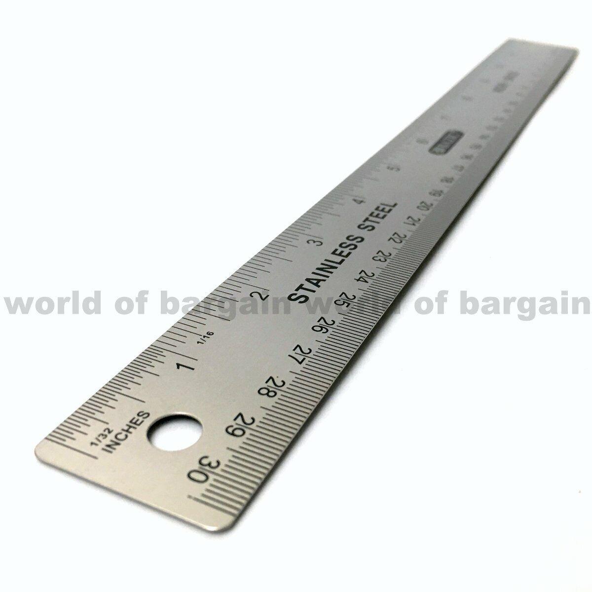 """12/"""" /& 24/"""" Decorators Straight Edge Ruler Metal Blade Wallpaper Painting Tool"""