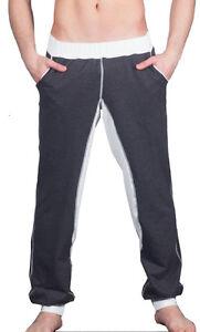 GERONIMO Mens survêtement gris blanc Track Pants pantalon pantalons longs GYM Activewear-afficher le titre d`origine 97h3uNk9-07145331-585015666