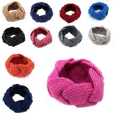 Girls Handmade Crochet Knit Knitting Headband Hairband Warmer Headwrap Twisted