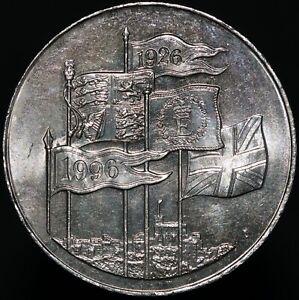 1996-Elizabeth-II-039-70th-Birthday-039-Five-Pounds-Cupro-Nickel-KM-Coins