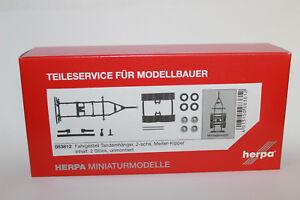 Herpa-083812-chasis-tandemhanger-Meiller-kipper-1-87-h0-nuevo-en-OVP