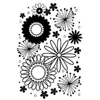 Embossing Folder Embossing Essentials Flower Frenzy Folder 5 By 7