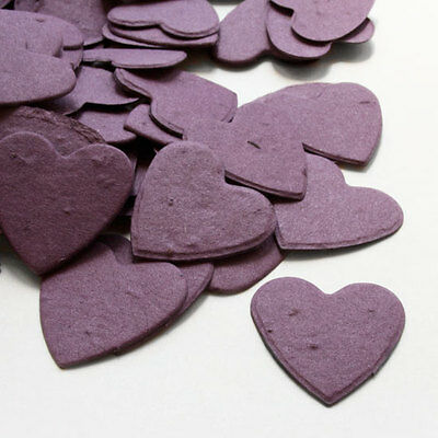 Purple Heart Shaped Wildflower Seed Recycled Paper Eco Plantable Confetti