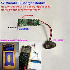 5V Micro USB Charger Module 3.7V Lithium Li-on Battery to 9V DIY 6F22 Battery