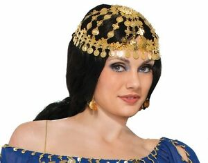 Image Is Loading Arabian Princess Coin Headpiece Gypsy Egyptian Belly Dancer