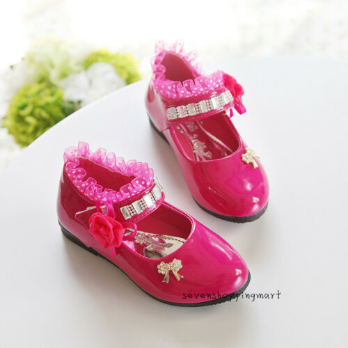 New Girl Shoes Toddler Princess Dress Shoes Lace Leather Dance Shoes Size 5-2