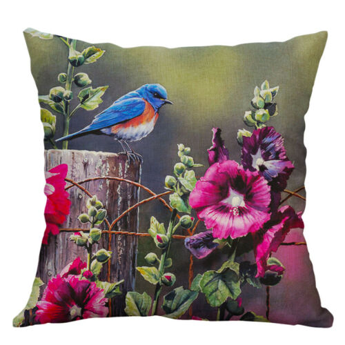 18/'/'  Printing Pillow Case Pillow Peacock Animal Cushion Cover Sofa Home Decor