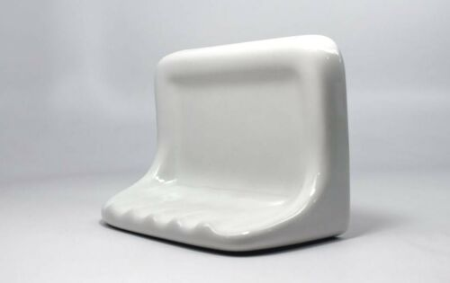 "Bath Accessory Shower Soap Dish White Ceramic Thinset Mount 6-1//2/"" x 4-7//8/"""