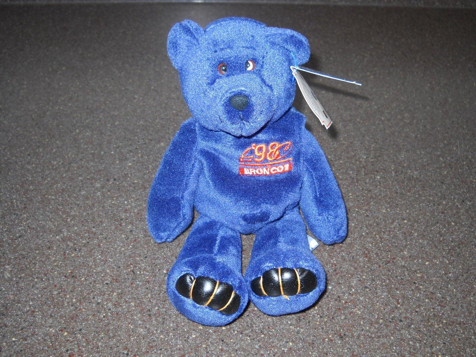 Super Rare John John John Elway Denver Broncos NFL 98 Limited Treasures Test Issue Bear 029513