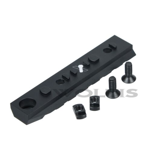 Tactical 7 Slots Dual Interface M-LOK Rail Section w// QD Swivel Hole
