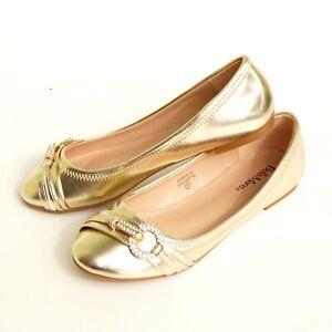 Womens-Rhinestone-Flat-Ballet-Ballerina-Slip-On-Slipper-Round-Toe-Casual-shoes-1
