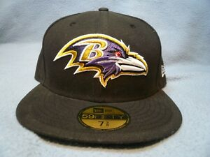 New-Era-59fifty-Baltimore-Ravens-BRAND-NEW-fitted-cap-hat-black-NFL-Football