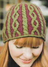 ccdd34bb6a6 item 4 Knitting Pattern ~ Ladies Colorful Cable Beanie Hat ~ Instructions  -Knitting Pattern ~ Ladies Colorful Cable Beanie Hat ~ Instructions