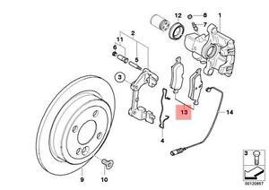 image is loading genuine-mini-cooper-r50-r52-r53-rear-brake-