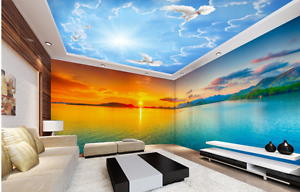 3D Birds 403 Ceiling WallPaper Murals Wall Print Decal Deco AJ WALLPAPER AU