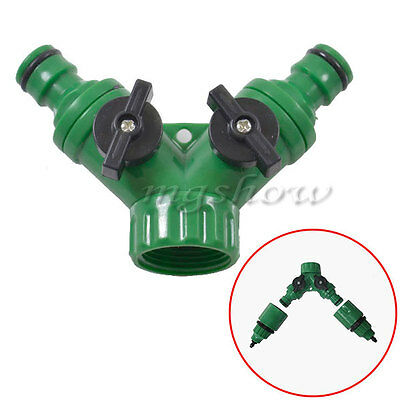 New Garden Hose Pipe Two/ One Way Adapter Y Tap Connector Fitting For Irrigation