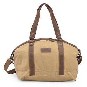 3a40515e39 Image is loading Gootium-Canvas-Travel-Bag-Large-Weekend-Duffle-Gym-