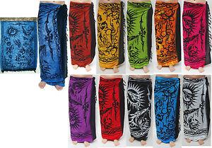 Sarong-in-verschiedenen-Farben-Pareo-Wickeltuch-Wandbehang-Lungi-Sarongs-Tuch