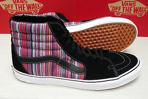 7ee9d0403b Image is loading Vans-SK8-Hi-Guate-Weave-Black-Multi-Men-