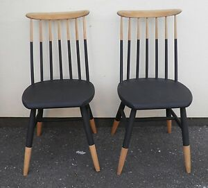 details about pair of danish style kitchen chairs dining chairs