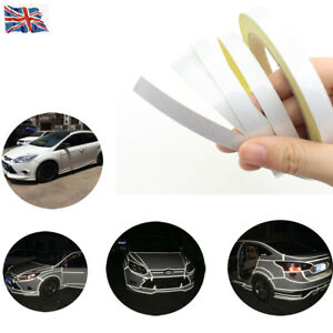 Reflective Sticker Tape Car Truck Body Stripe DIY Self Adhesive Decal White