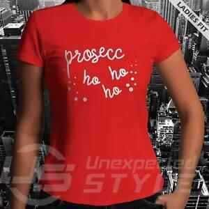 PROSECCO-HO-HO-HO-Ladies-Girls-Funny-Christmas-T-shirt-xmas