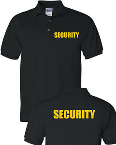 697e9482 SECURITY Polo T-Shirt Bouncer Event Staff Uniform Police Security ...