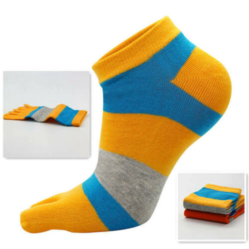 1Pair Men/'s Sports Casual Ankle Socks Five Finger Cotton Toe Sock Multi-Color