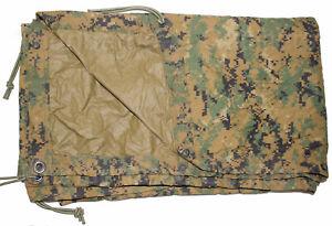 USMC-Military-MARPAT-Woodland-Digital-REVERSIBLE-FIELD-TARP-Tarpaulin-90x80-CIF