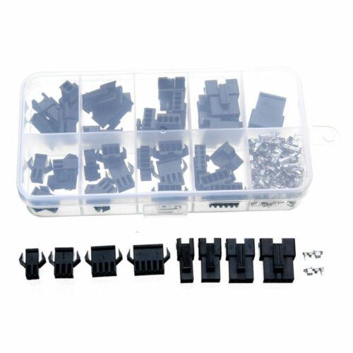 200pcs 2//3//4//5 Pin Male//Female Jumper Header Socket Wire Connector Kit W// Case