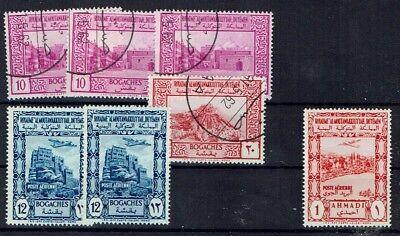 Nordjemen 1951 Minr 128 130 Gestempelt 135 Und 138 Postfrisch ** Up-To-Date-Styling