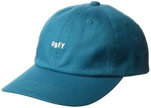 e5ae1e60054 Obey Men s Jumble Bar III 6 Panel Strapback Hat Cap - Teal ...