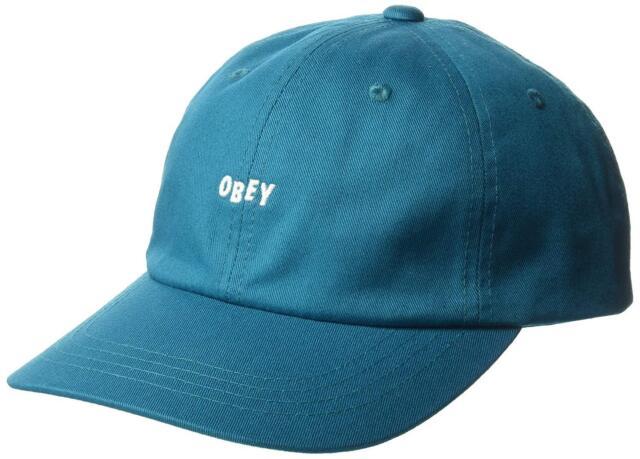 Buy OBEY Men s Jumble Bar III 6 Panel Strapback Hat Cap - Teal ... bbe4d8fad3e8