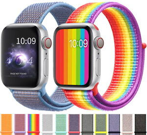 38 42 40 44mm Nylon Sports Loop Iwatch Band Strap For Apple Watch Series 5 4 3 2 Ebay