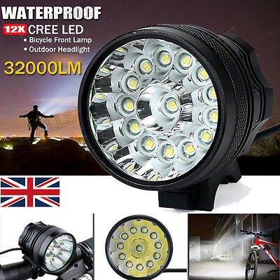 Rechargeable 8000Lm Lamp XM-L T6 LED Head Front Bike Bicycle light HeadLight UK