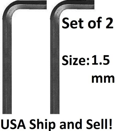 1.5mm METRIC Allen Wrench Socket Head Cap Screws Hex Key Short Arm Tool Set of 2