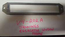 JENNINGS ANTIQUE SLOT MACHINE ESCALATOR GLASS FRAME REPRODUCTION JENNINGS V4-202