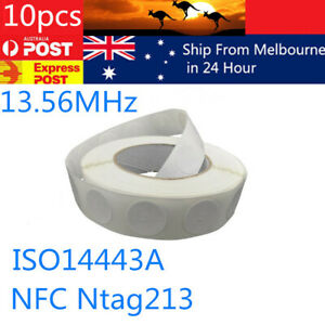 Details about 10x NFC TAG Sticker NTAG 213 RFID Tag for Android NFC phones  universal label