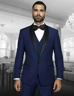 Men Navy Blue Suit Designer Wedding Dinner Tuxedo Casual Suits Coat Vest Pants Ebay,Champagne Silk Slip Wedding Dress