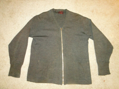 Vintage  1930's Work Cardigan Sweater  Talon Zipp