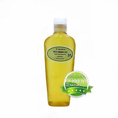 Pure Rice Bran Oil  2 oz 4oz 8oz 12oz 16 oz up to Gallon Free shipping Organic