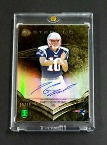 JIMMY-GAROPPOLO-2014-BOWMAN-STERLING-GOLD-REFRACTOR-AUTO-ROOKIE-RC-99-NFL