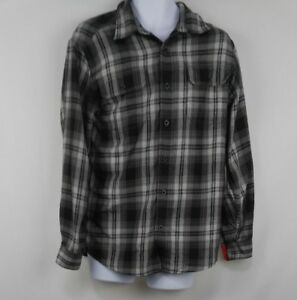 Orvis-Mens-Button-Down-Long-Sleeve-Plaid-Flannel-Shirt-Size-M-Medium
