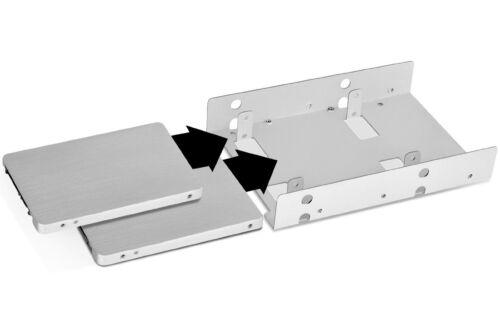 "SilverStone Technology SDP08-LITE 3.5/"" to 2x2.5/"" Internal HDD//SSD Bay Converter"