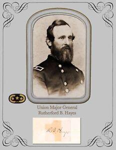 President & Civil War Major General Rutherford Birchard Hayes  Photo & Autograph