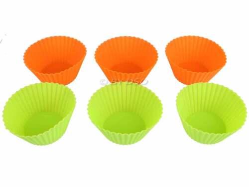 Antiadhésif facile libération silicone 6 pièce cupcake cake bake set livraison express