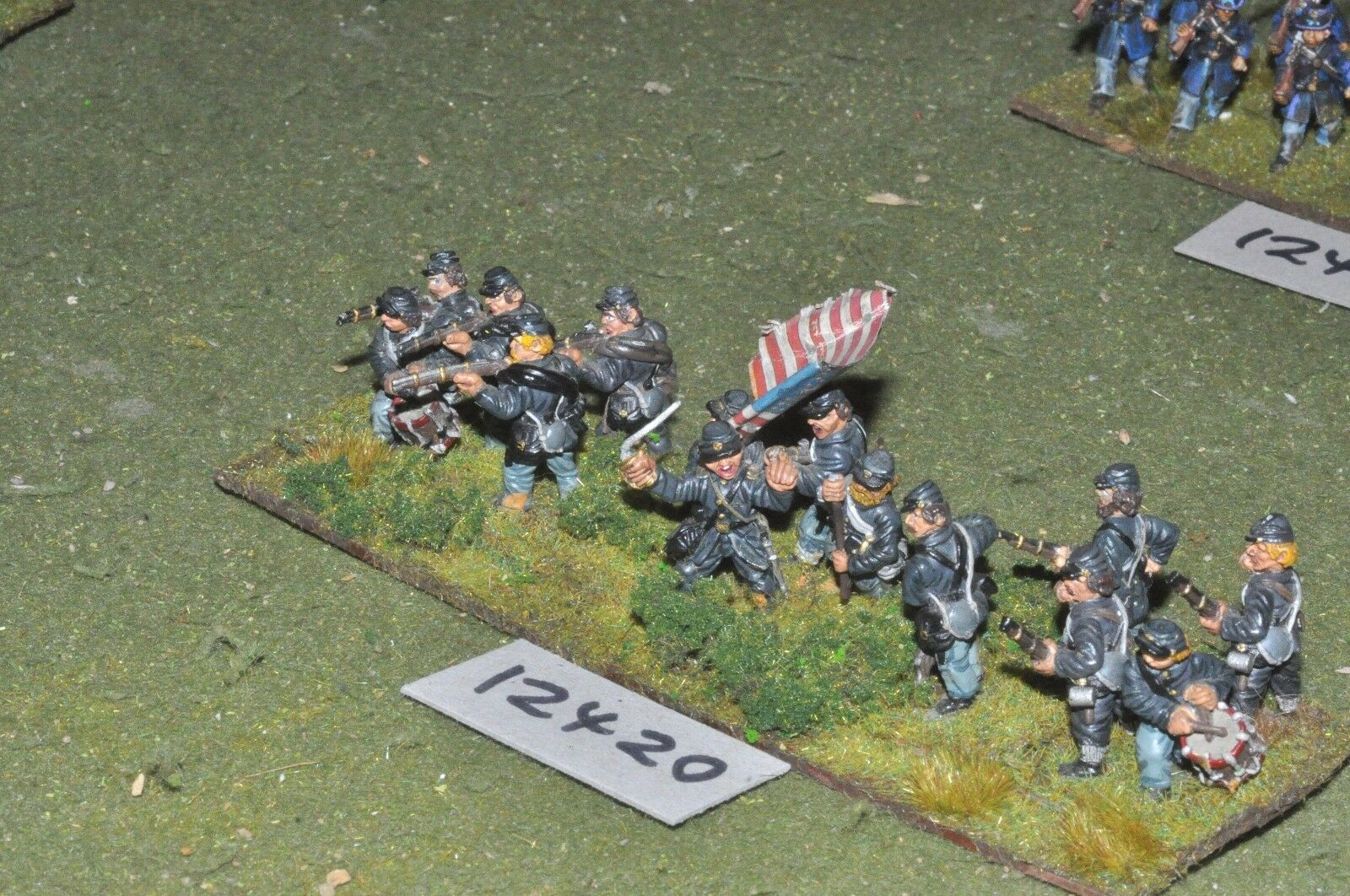 25mm ACW   union - american civil war infantry 15 figures - inf (12420)