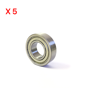 Qty-5 6302ZZ  Double Shielded Ball Bearing High Quality Fast Shipping