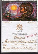 PAUILLAC 1EGCC ETIQUETTE CHATEAU MOUTON ROTHSCHILD 1998 75 CL  §26/06/17§