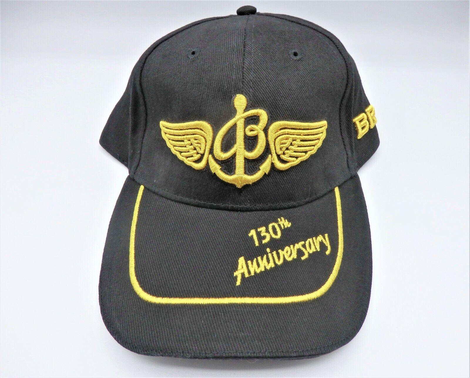 Breitling Kappe 130th Jubiläum Neuheit Baumwolle Gold × Schwarz Hut Von Japan